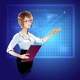 Business woman at a presentation Stock Photography