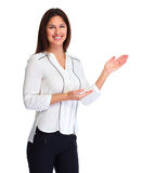 Business woman presenter royalty free stock image