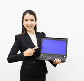 Business woman presenting Royalty Free Stock Image