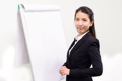Business woman presenting Stock Images