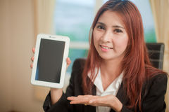 Business woman presenting Stock Image