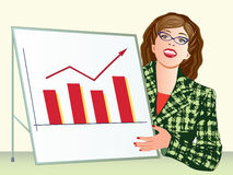 Business woman presenting graph Royalty Free Stock Photos