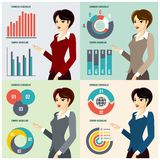 Business Woman Presenting Proposal Stock Photography