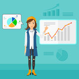 Business woman presenting report. Stock Images