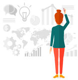 Business woman presenting report Stock Images