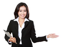 Business woman presenting Royalty Free Stock Images