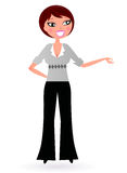 Business Woman presenting something royalty free illustration