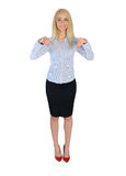 Business woman presenting something. Business woman presenting something Royalty Free Stock Photo