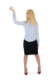 Business woman presenting something. Business woman presenting something Royalty Free Stock Image