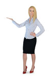 Business woman presenting something. Business woman presenting something Stock Photography