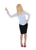 Business woman presenting something. Business woman presenting something Stock Photos