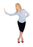 Business woman presenting something Stock Image