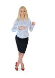 Business woman presenting something Royalty Free Stock Image