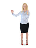 Business woman presenting something Royalty Free Stock Photography