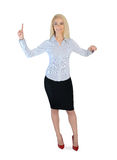 Business woman presenting something Royalty Free Stock Photo