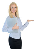 Business woman presenting something Stock Photo