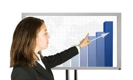 Business woman presenting success stats Royalty Free Stock Photography