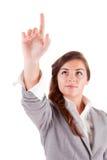 Business woman pressing key Royalty Free Stock Photo