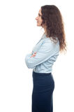 Business woman profile isolated Royalty Free Stock Photo
