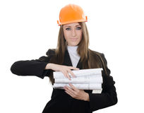 Business woman with projects Stock Images