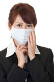 Business woman in protective mask Stock Images