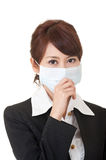 Business woman in protective mask Royalty Free Stock Photography