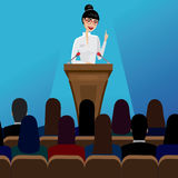 Business woman public speaker on conference Royalty Free Stock Photography