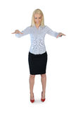 Business woman puppeteer smile Royalty Free Stock Photography