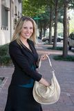 Business Woman With Purse Royalty Free Stock Photos