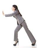 Business woman push Stock Image