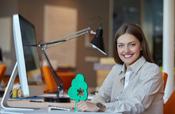 Business woman puzzle Royalty Free Stock Photo