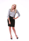 Business Woman Questioning Royalty Free Stock Photography