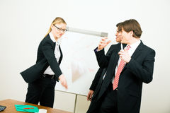 Business woman quitting job Royalty Free Stock Images