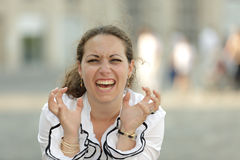 Business woman rage Royalty Free Stock Image