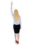 Business woman reach top Stock Photo