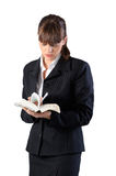 Business woman readind Royalty Free Stock Photos