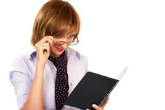 Business woman  reading Royalty Free Stock Images