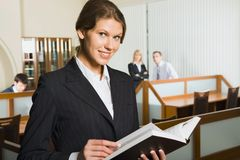 Business woman is reading Stock Images
