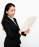 Business woman reading Royalty Free Stock Photo