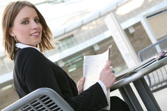 Business Woman Reading Stock Photos