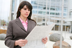 Business Woman Reading Royalty Free Stock Image