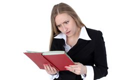 Business woman reading book Royalty Free Stock Images