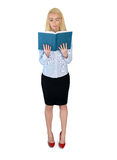 Business woman reading book Stock Photography