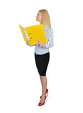 Business woman reading file Stock Photography