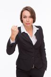 Business woman ready for competition and fight Stock Photos
