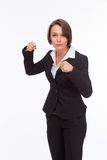 Business woman ready for competition and fight Royalty Free Stock Photography
