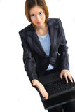 Business woman ready for a handshake Stock Photography