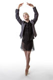 Business woman ready to dance Stock Image