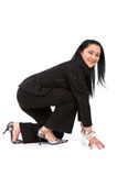 Business woman ready to race Stock Photo