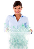 Business woman recycling Royalty Free Stock Images